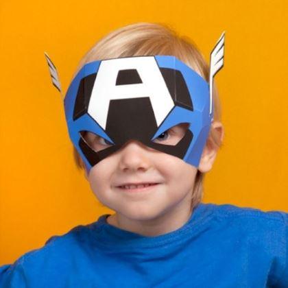 детская маска капитан америка из бумаги