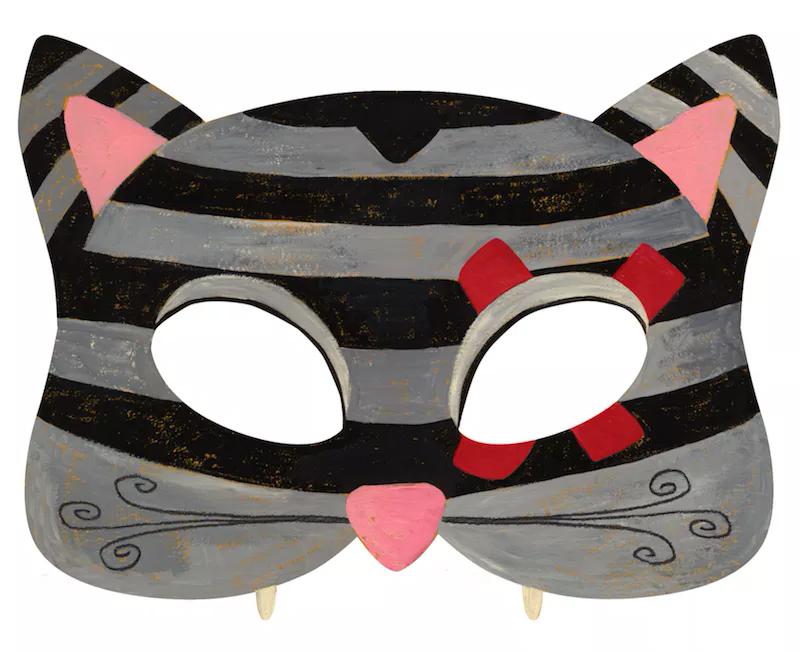 детская маска кот