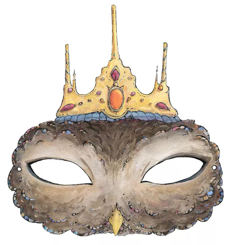 детская маска сова в короне скачать