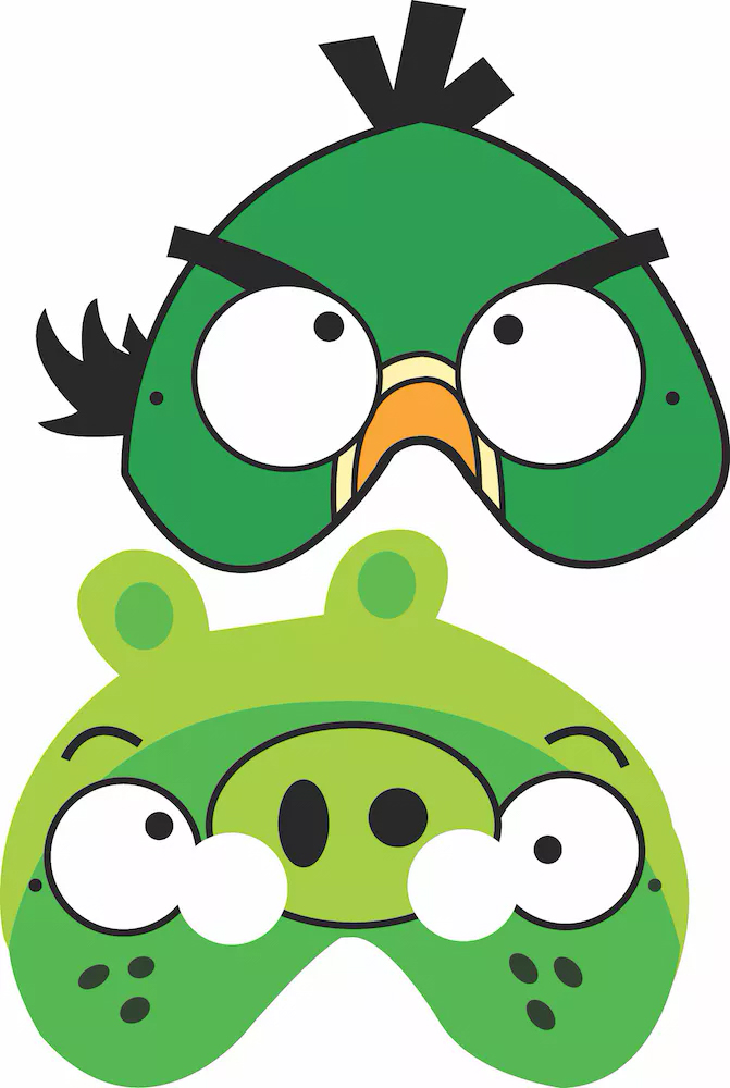 детские маски angry birds