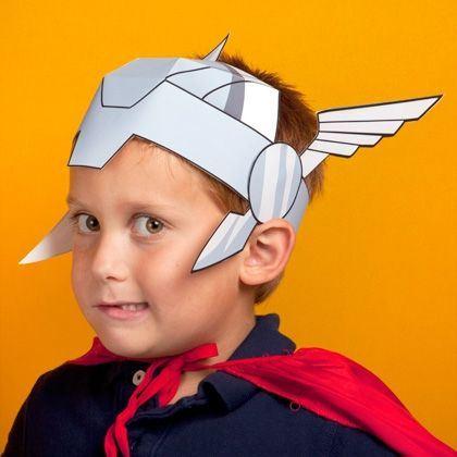 детская маска Тора из бумаги