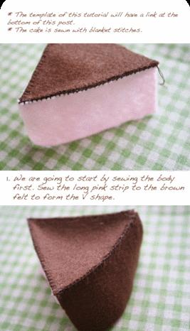 выкройка пирожное из фетра
