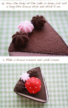 выкройка торт из фетра