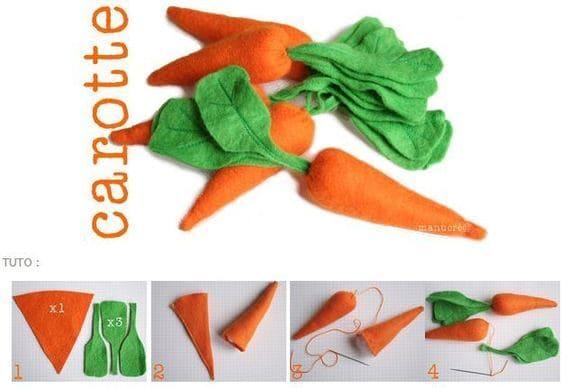 морковь из фетра