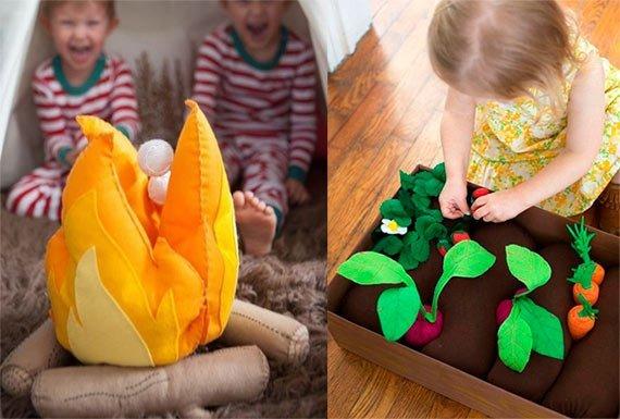 Разводим костер и огород прямо в детской спальне