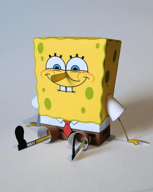 Губка Боб Квадратные Штаны из бумаги