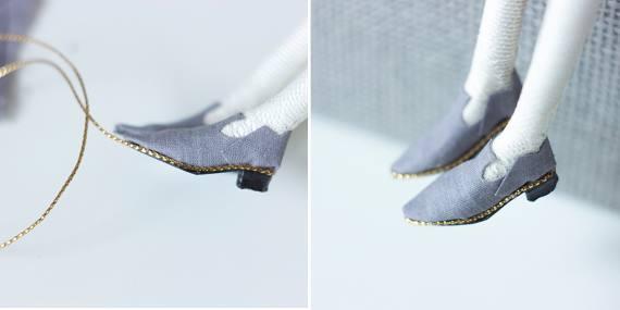Туфельки для миниатюрной куклы