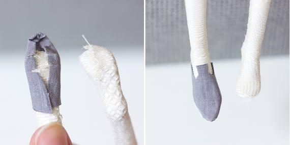 как сделать обувь кукле