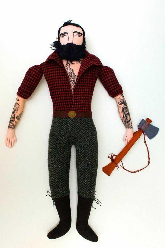 текстильная кукла лесоруб своими руками