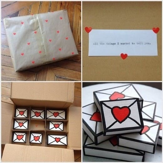 Маленькие идеи ко Дню влюбленных со схемами конвертов