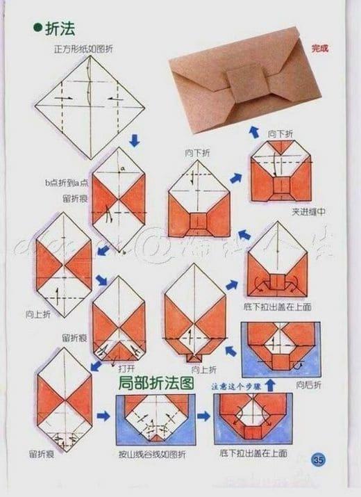 схемы бумажных конвертов