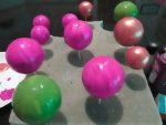 Как покрасить пенопластовый шар
