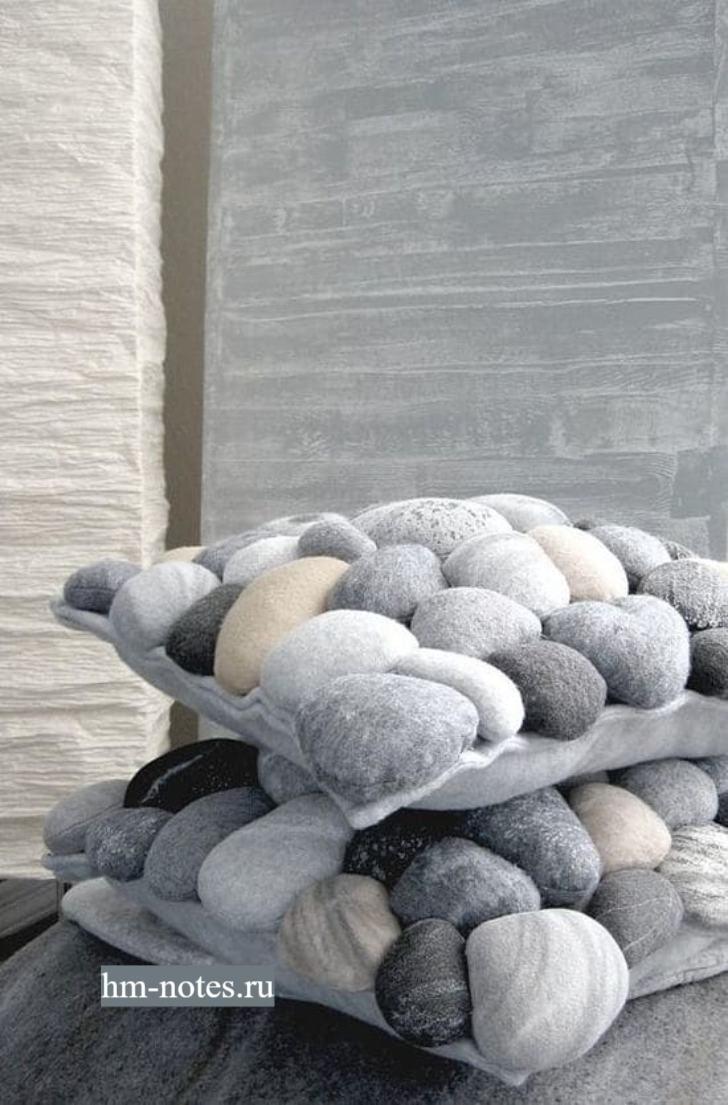 Текстильные камни своими руками