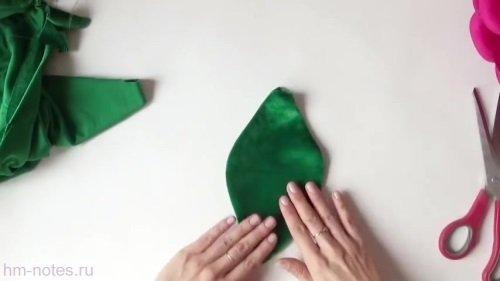 выкройка подушки из велюра