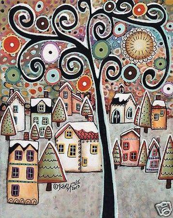 Эскизы абстрактных картин для росписи