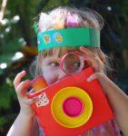 Фотоаппарат для малышей из картона своими руками