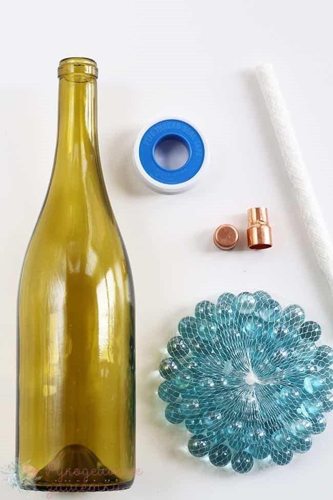 материалы для изготовления лампы из бутылки