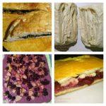 Рецепт слоеного дрожжевого теста и пирогов со шпинатом и ягодами