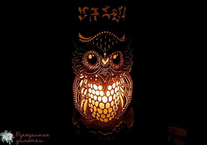 Ночной светильник Сова своими руками