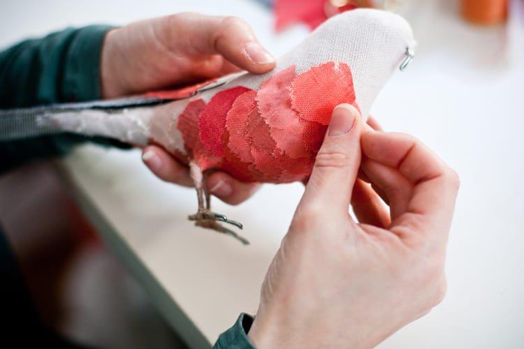 Выкройка розового фламинго и птицы Эбигейл Браун