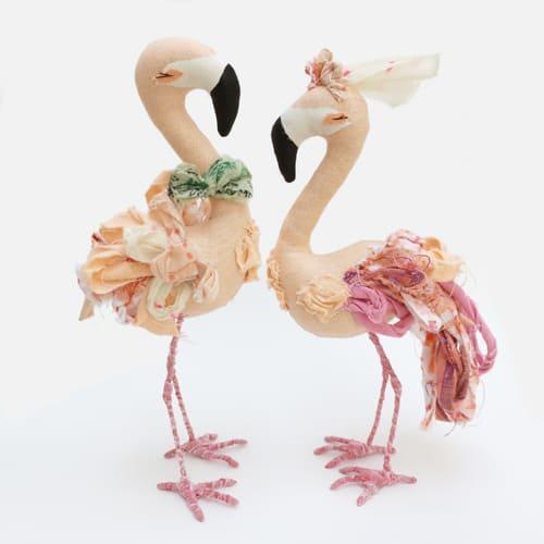Выкройка розового фламинго и птицы Эбигейл Браун 1