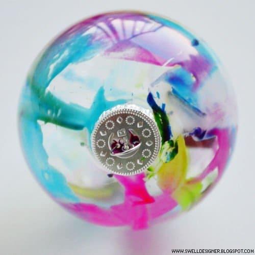 Создаем узор на стеклянных шарах