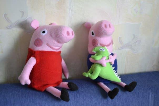 Свинка Пеппа и Джордж выкройка игрушки