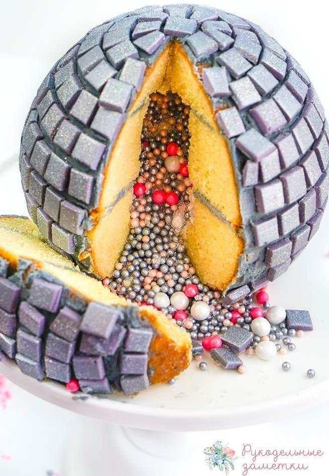 Праздничный торт «Диско шар»
