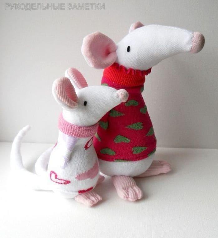 18 выкроек мягкой игрушки «Крыса»