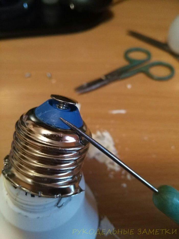 Разобираем LED лампочку для поделок