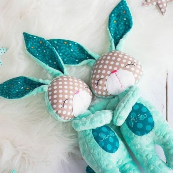 8 выкроек зайцев для сна и игр