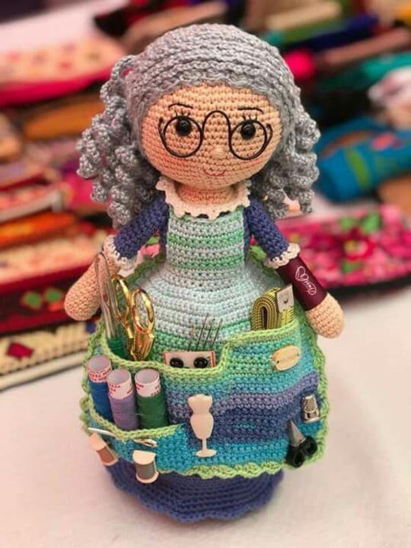 Кукла бабушка крючком - мастер-класс