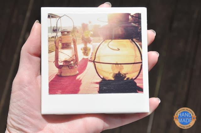 Подставки под кружку в виде полароидных снимков