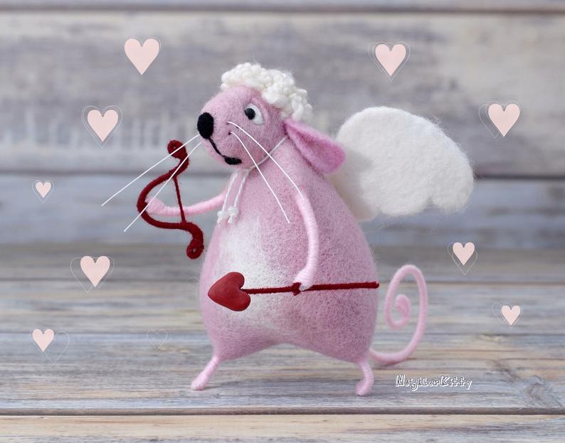 Мышка из войлока