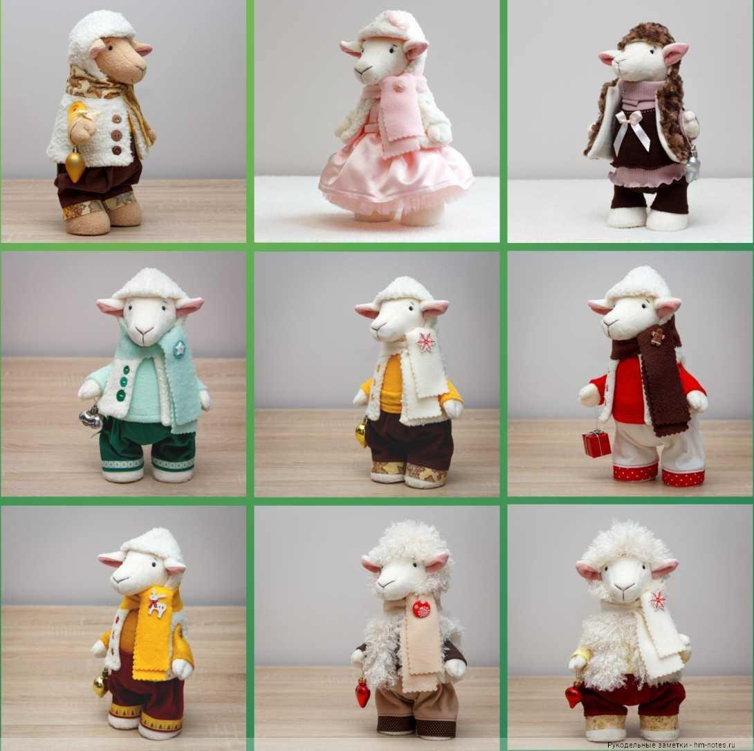 Овечки, коза и барашек - мастер-класс и выкройки с одеждой