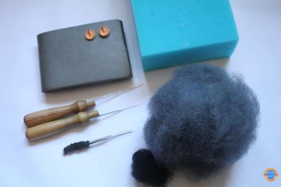 материалы для валяния кота