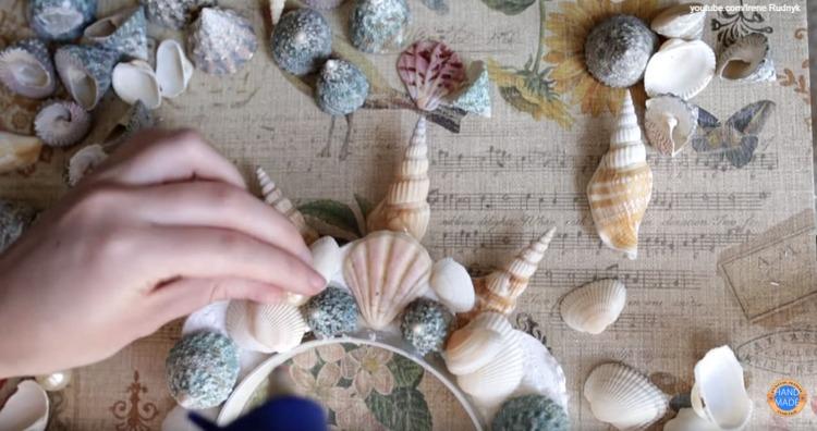 морские ракушки для короны