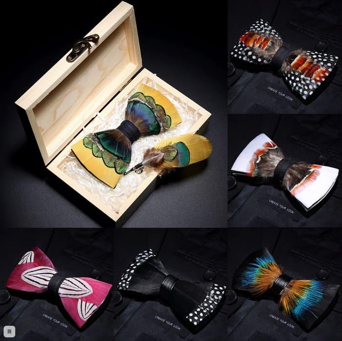 галстук бабочка ручной работы