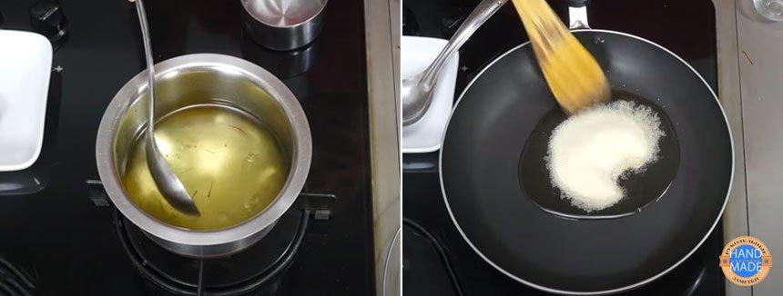 Индийский десерт из семолины (манки) в шафрановом сиропе