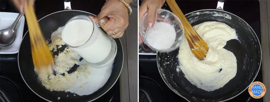 основа для десерта из семолины