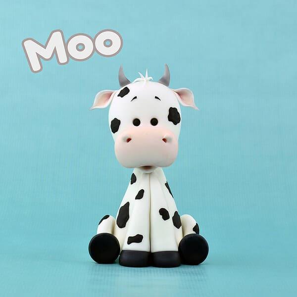 Корова из полимерной глины