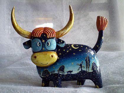 Корова своими руками — выкройки и идеи