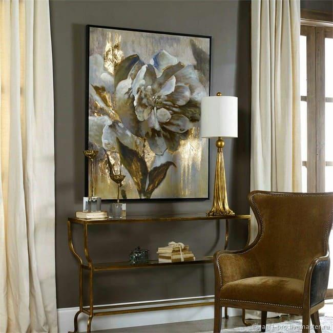 Золотой цвет в домашнем декоре