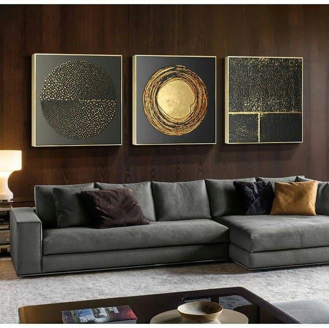 использование золотого цвета в домашнем декоре