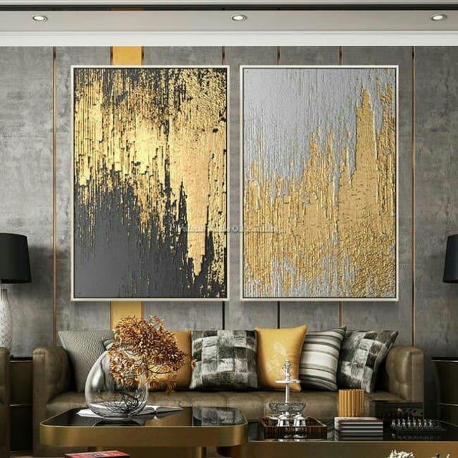 Золотой цвет в гостинной