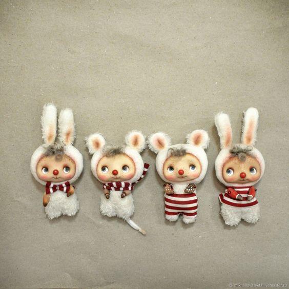 Идеи и выкройка маленьких тряпичных зайцев