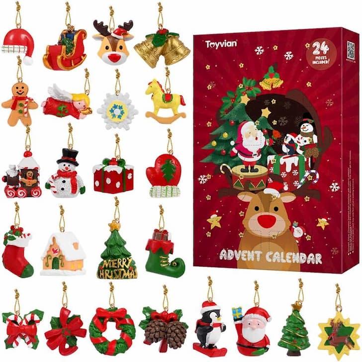 Набор ёлочных игрушек для рождественского календаря