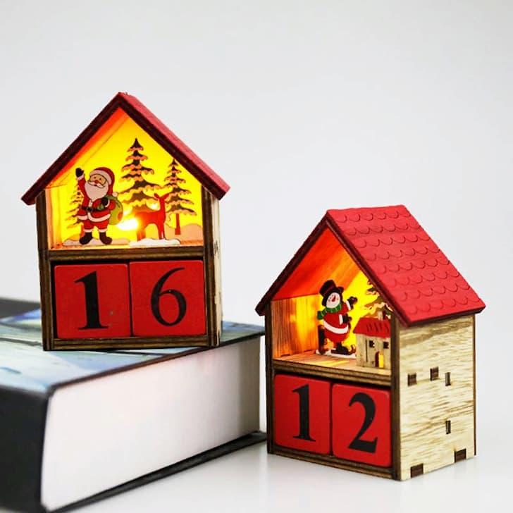 Компактный адвент-календарь с подсветкой