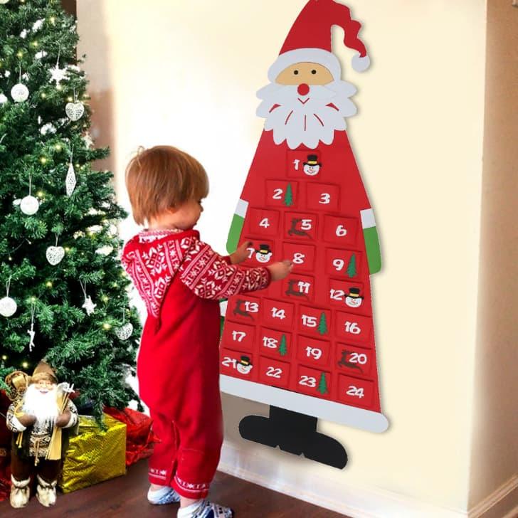 адвент-календарь Санта Клаус